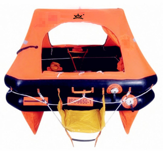 ISO 9650-1 Throw Overboard Inflatable Life Raft for Yacht