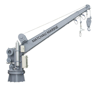 Single Arm Slewing Boat Or Raft Davit And Crane