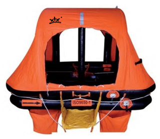 ISO 9650-1 Throw Overboard Self-righting Inflatable Life Raft for Yacht